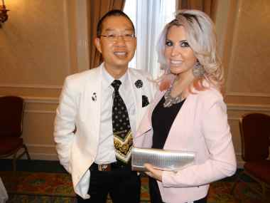 Carla Hernandez and Fashion Agent, Ned Ma