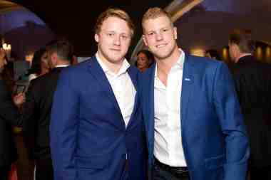 Morgan Rielly and Peter Holland/All-Star Gala for Sick Kids